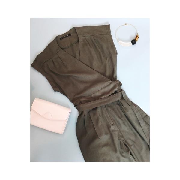 Curator Maren Pantsuit - Dusty Green