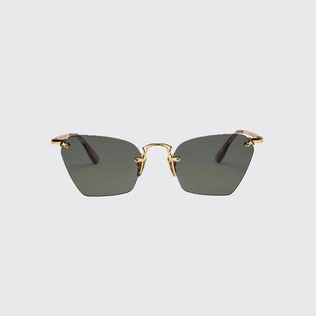 Le Specs Pit Stop Sunglasses - Gold/Khaki