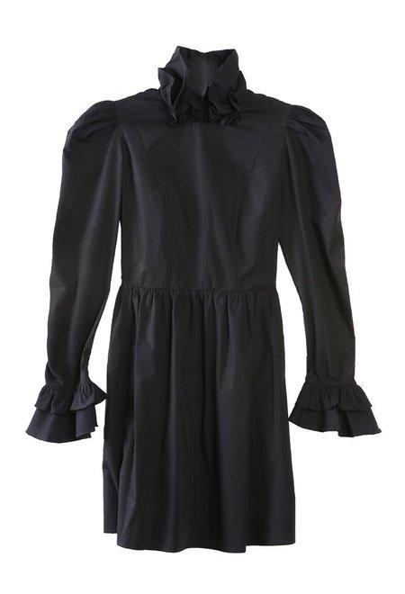 BATSHEVA Mini Prairie Dress - Black