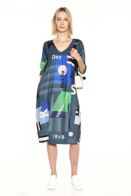 Matter Matters Gallery Midi Summer Dress - Mokita Grey