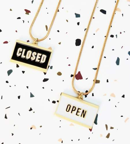 Matter Matters Open/Closed Reversible Necklace - Black/Ivory