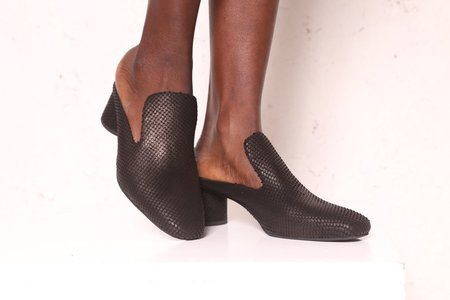 """INTENTIONALLY __________."" Gate Heel - Black Reptile"