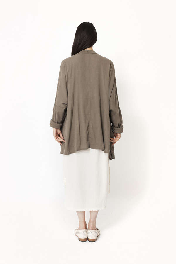 Black Crane Square Shirt (Grey)