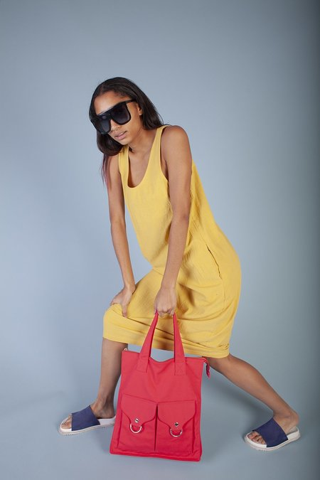 L.F. Markey Basic Linen Dress - Saffron