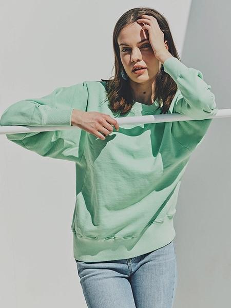 FAYRI Sunday Washed Dolman Sweatshirt - Neo Mint
