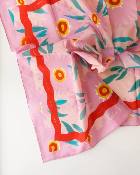 Julie White Eye See You Silk Cotton Scarf - 65cm x 65cm