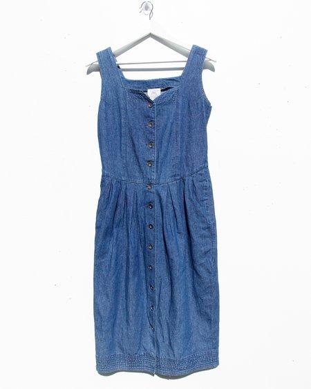 Vintage Nougat Denim Mini Dress