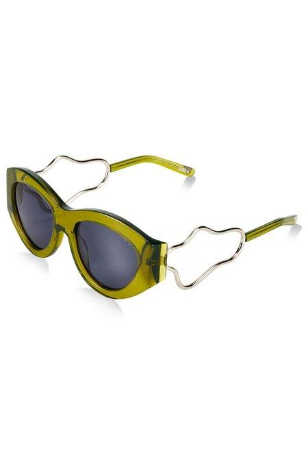 Unisex Pared Eyewear x Holly Ryan Serra Squiggle - Khaki
