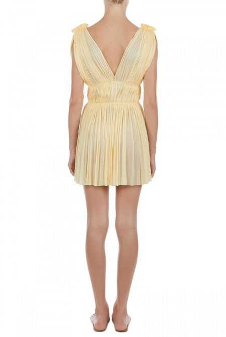 Elena Makri Vereniki pleated silk-tulle mini dress - Yellow