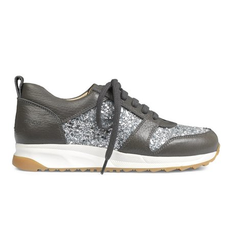 KIDS angulus sneakers - dark grey/silver glitter