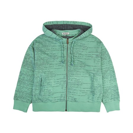 kids barn of monkeys hooded jacket - gum green