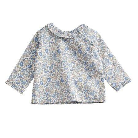kids belle enfant ruffle collar blouse - liberty d'anjo