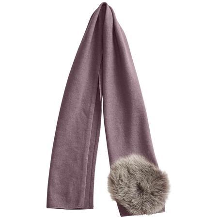 kids belle enfant scarf with shearling details - mauve