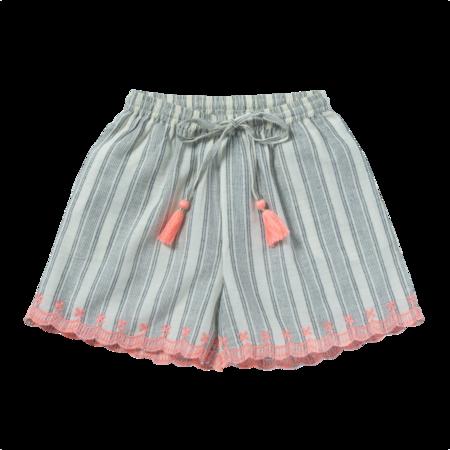 kids bonheur du jour clyde shorts - ecru/black