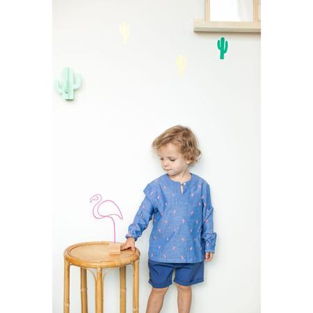 KIDS bonheur du jour milo shorts - blue