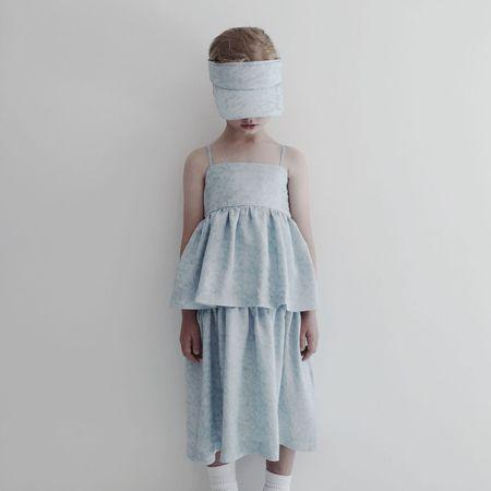 KIDS caroline bosmans flower dress - blue