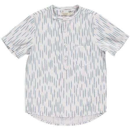 Kids Marmar Copenhagen Theodor Short Sleeve Shirt - Moondust Blue Stripe