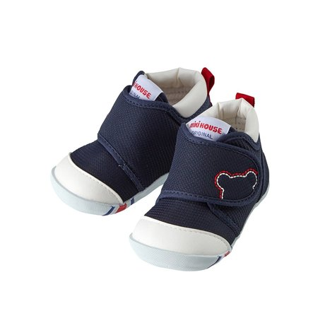 Kids Miki House My First Shoes - Navy