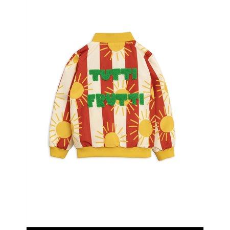Kids Mini Rodini Sun Stripe Baseball Jacket