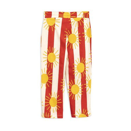Kids Mini Rodini Sun Stripe Trousers - Red