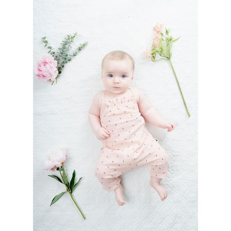 KIDS my little cozmo botanical jumpsuit - soft pink