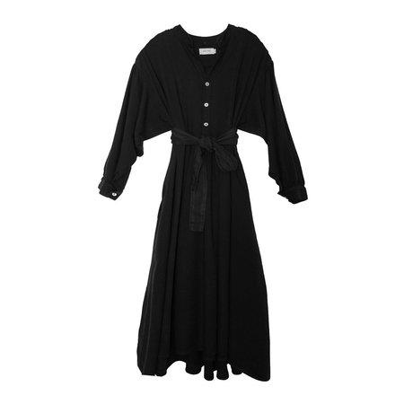 nico nico lennox rayon prairie dress - black