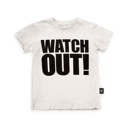 KIDS nununu watch out t-shirt - white