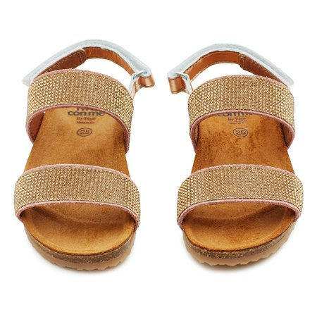 Kids pepe two con me glitzy sandals - pink