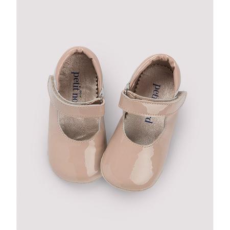 kids petit nord ballerina shoe - pale rose patent