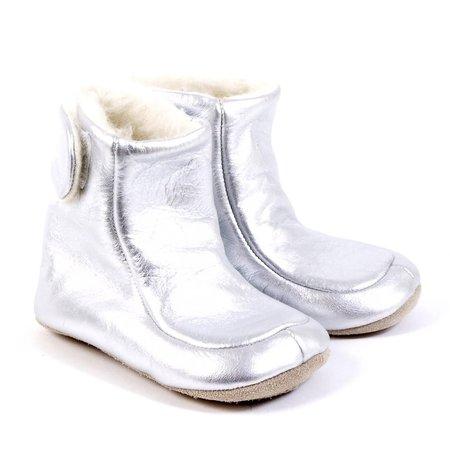 kids petit nord metallic bootie - silver
