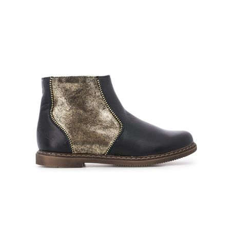 kids pom d'api city boots - black/gold