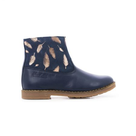 kids pom d'api trip feather boots - navy
