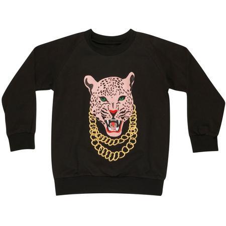 kids wauw capow by bangbang copenhagen wauw kids sweatshirt - black