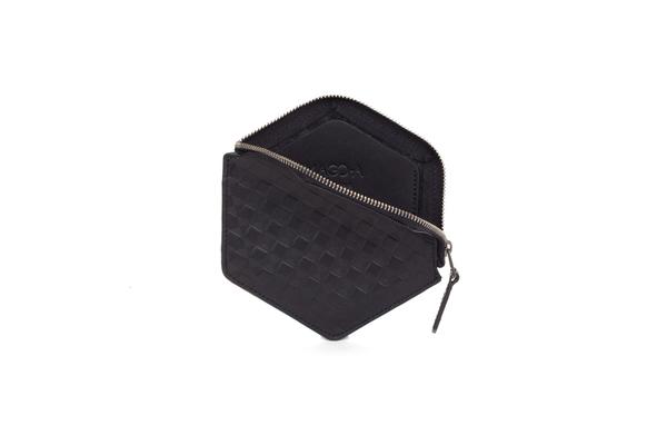 Nº31 Hexa Wallet Chequered in Black