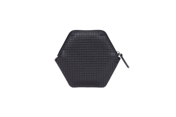 Nº32 Hexa Wallet Honeycomb in Black