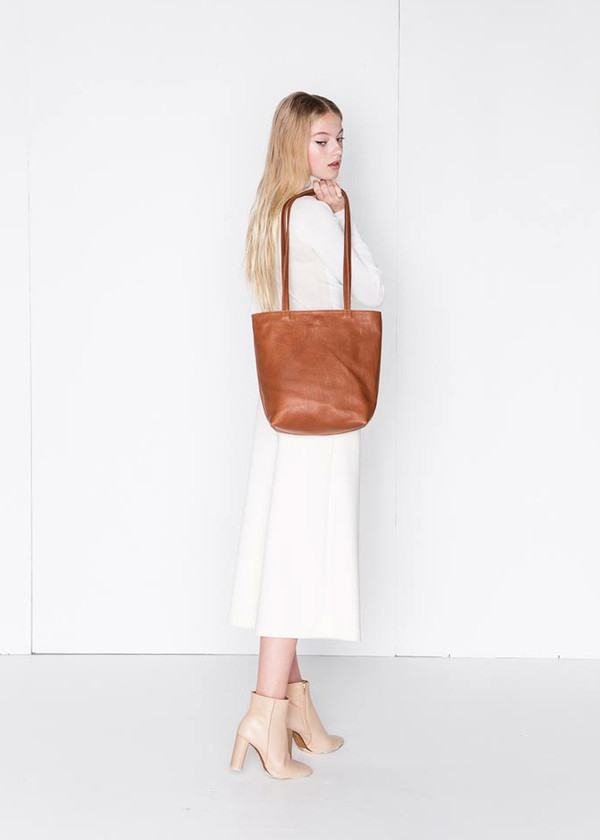 Erin Templeton BYOB Square Tote Bag in Caramel