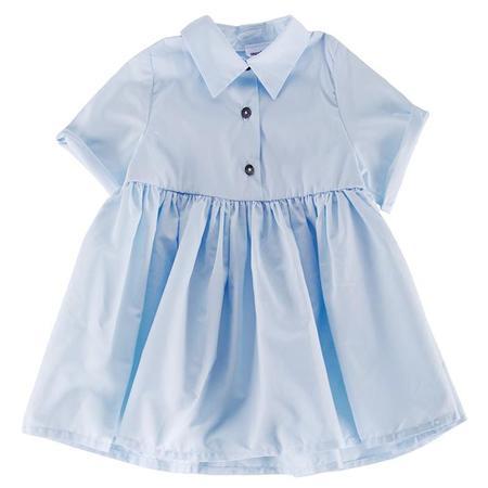 kids Pequeno Tocon Baby Shirt Dress - Light Blue