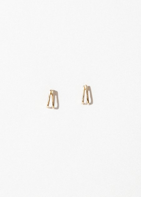 Jerry Grant Double Prong Earring - 14k Gold