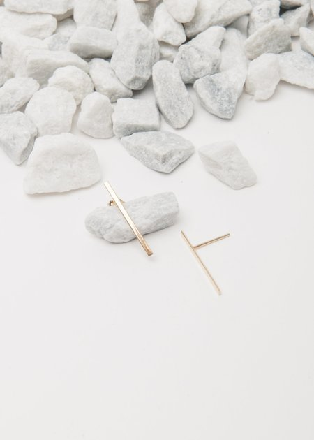 Jerry Grant Long Stick Studs - 14k yellow gold