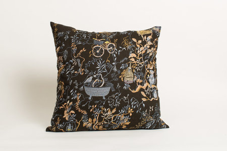 Olivia Wendel Wonderland Midnight Linen Pillow