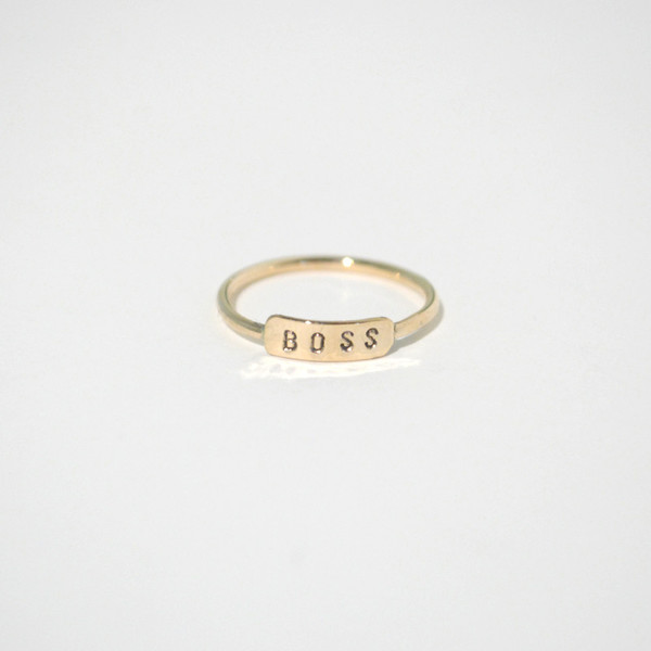 Gem & Blue Boss Ring - Silver or Gold