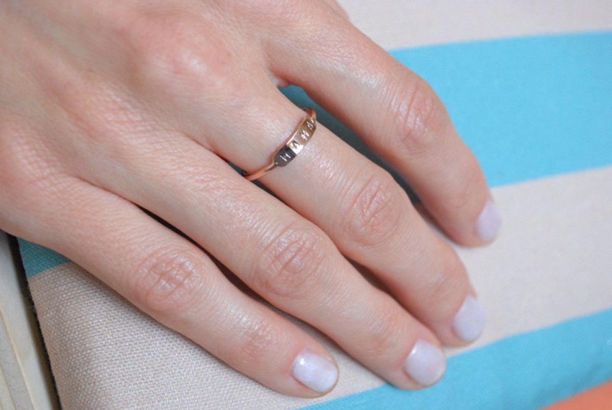 Mama Ring - Yellow Gold, Rose Gold or Silver | Garmentory