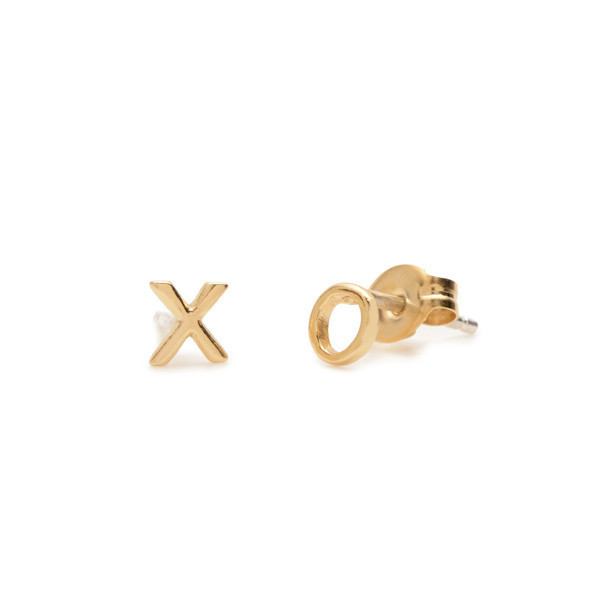 Bing Bang NYC XO Studs - Yellow Gold or Silver