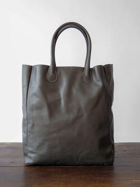 Erica Tanov Leather shopping tote - dark grey