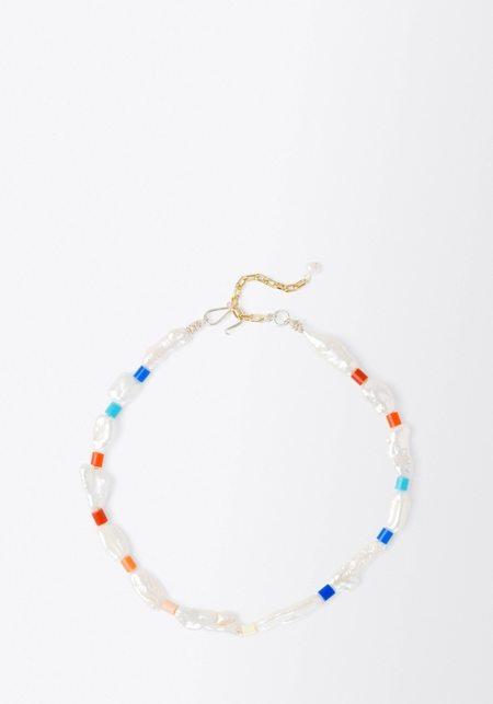 WALD BERLIN Genie in a Bottle Necklace - Pearl/Multi