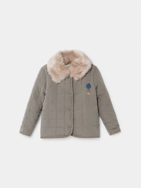 Kids Bobo Choses Volcano Quilted Jacket - Light Grey