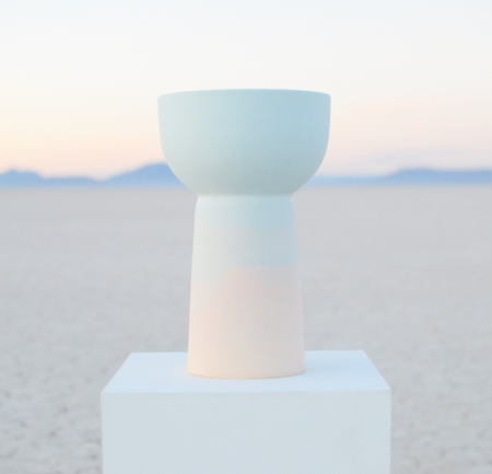Peaches Studio sunset pedestal planter