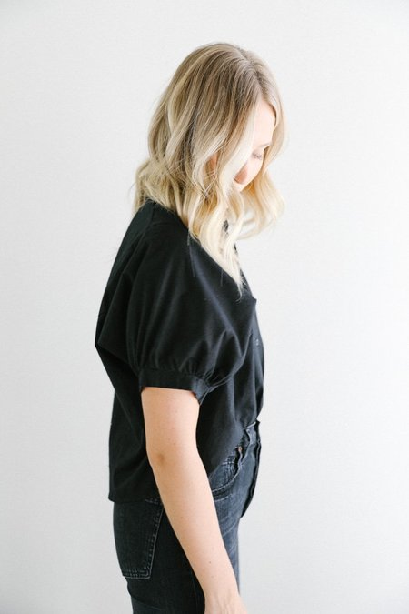Bahhgoose Button down Binda blouse - black