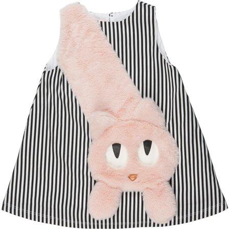 Kids Wauw Capow By Bang Bang Copenhagen Mitty Dress - Black/White Stripes