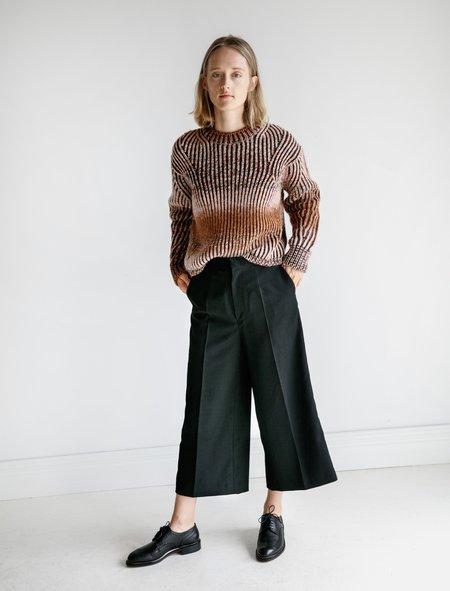 Ys by Yohji Yamamoto Cropped Gabardine Trousers - Black